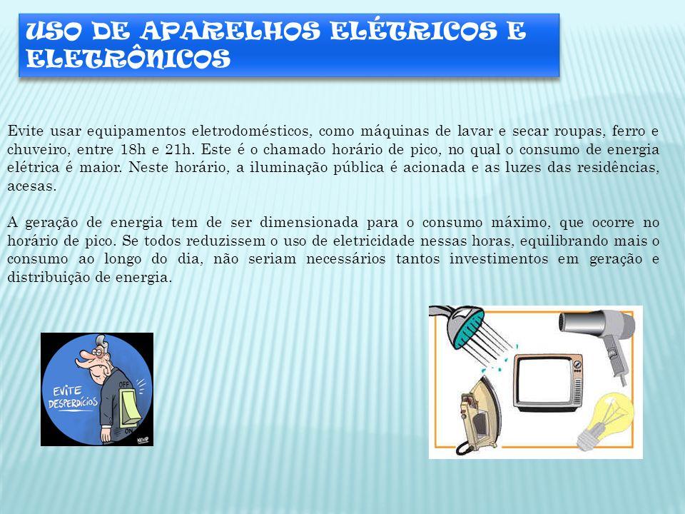 USO DE APARELHOS ELÉTRICOS E ELETRÔNICOS