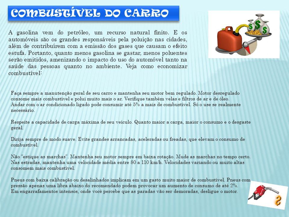 COMBUSTÍVEL DO CARRO