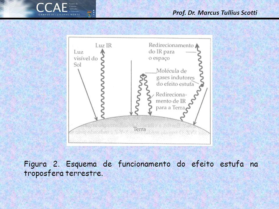 Figura 2. Esquema de funcionamento do efeito estufa na troposfera terrestre.
