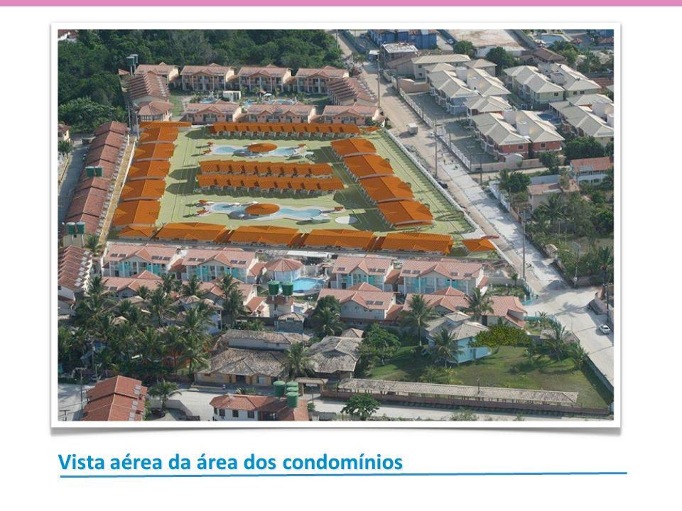 Vista aérea da área dos condomínios