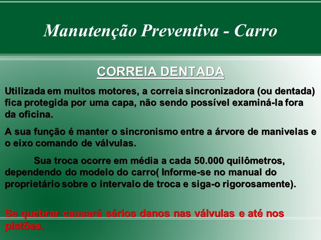 Manutenção Preventiva - Carro