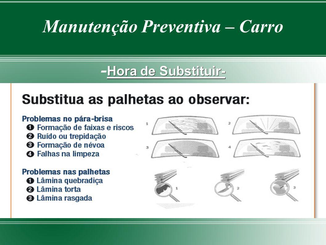 Manutenção Preventiva – Carro -Hora de Substituir-