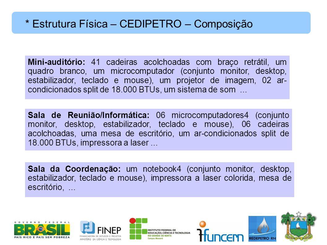 * Estrutura Física – CEDIPETRO – Composição