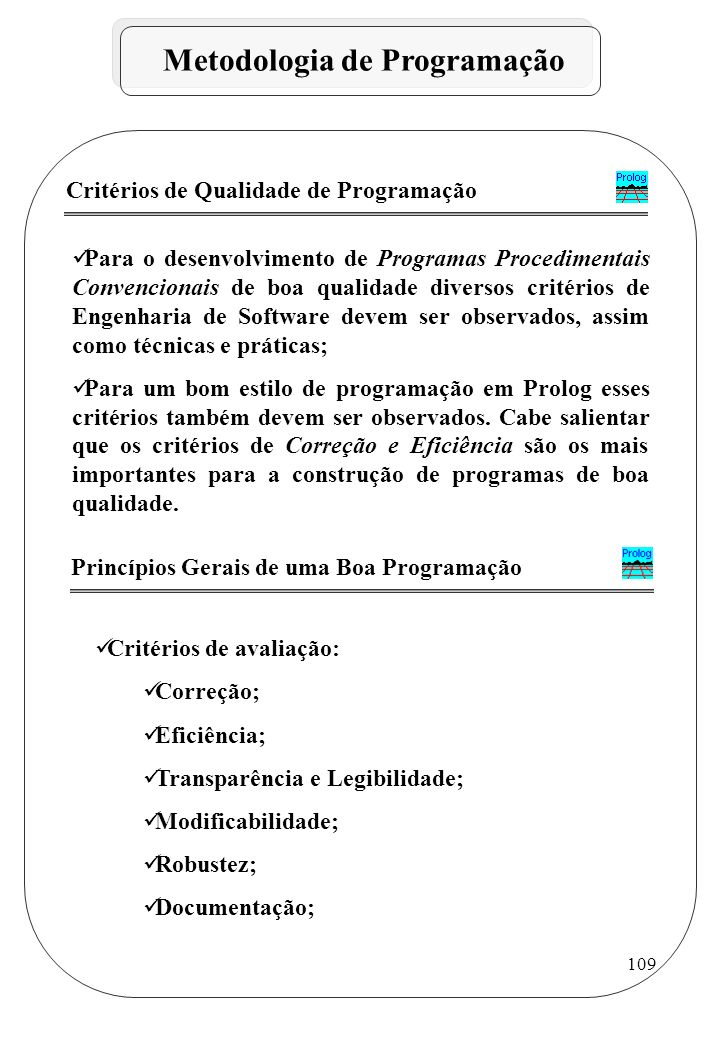 Metodologia de Programação