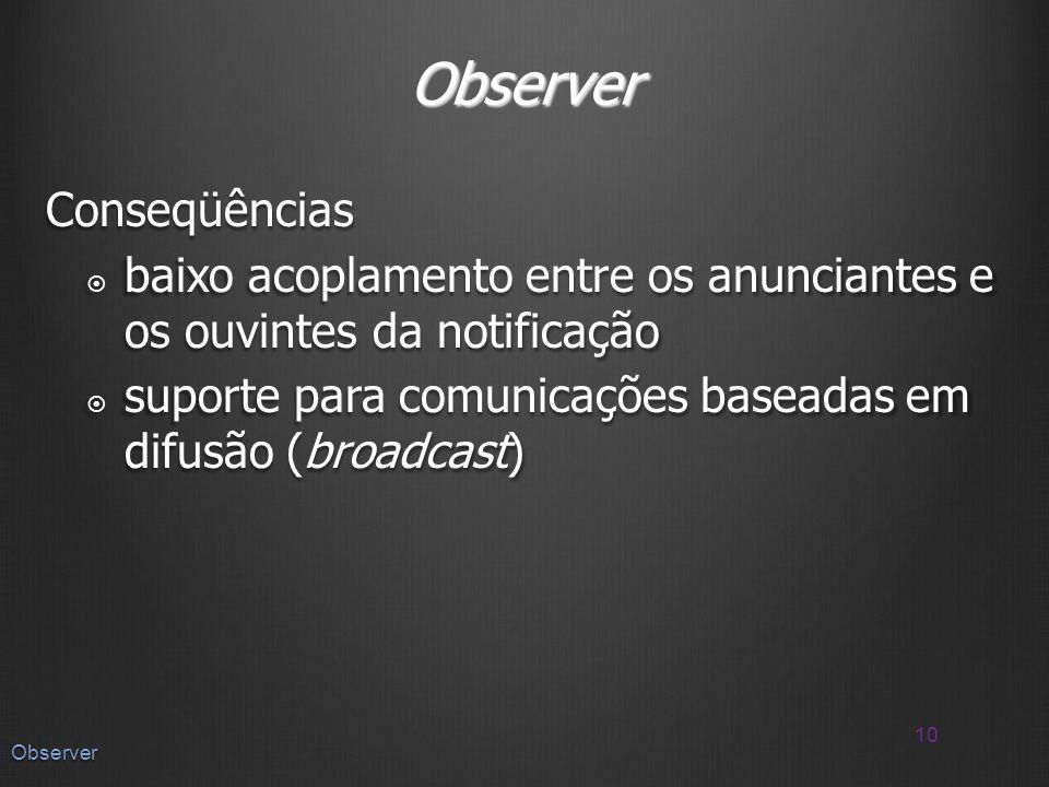 Observer Conseqüências