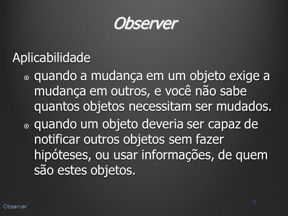 Observer Aplicabilidade