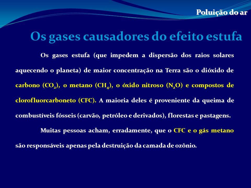 Os gases causadores do efeito estufa