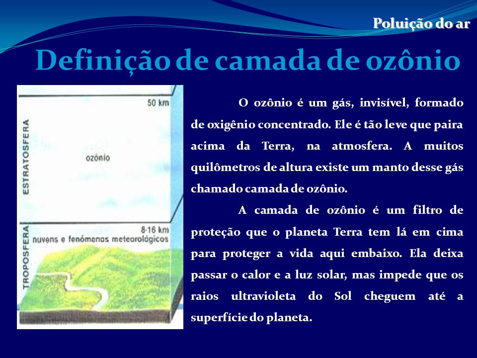 Definição de camada de ozônio