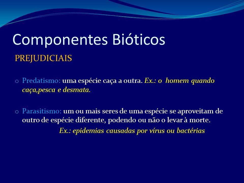 Componentes Bióticos PREJUDICIAIS