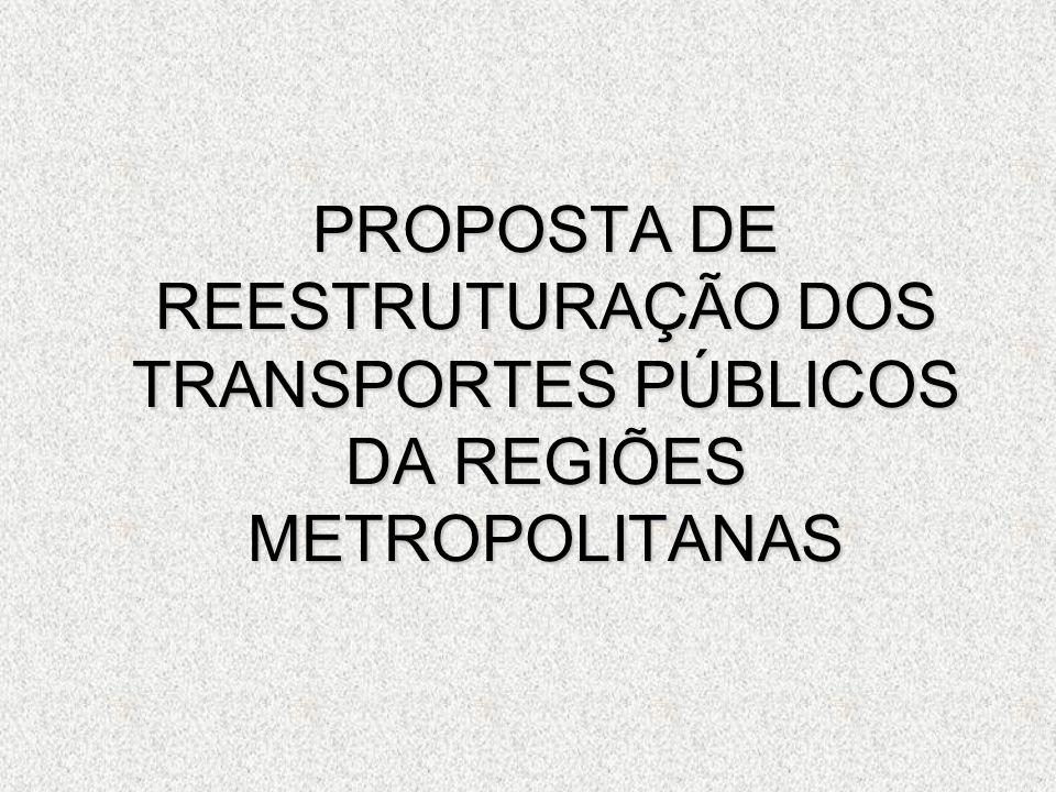 PROPOSTA DE REESTRUTURAÇÃO DOS TRANSPORTES PÚBLICOS DA REGIÕES METROPOLITANAS