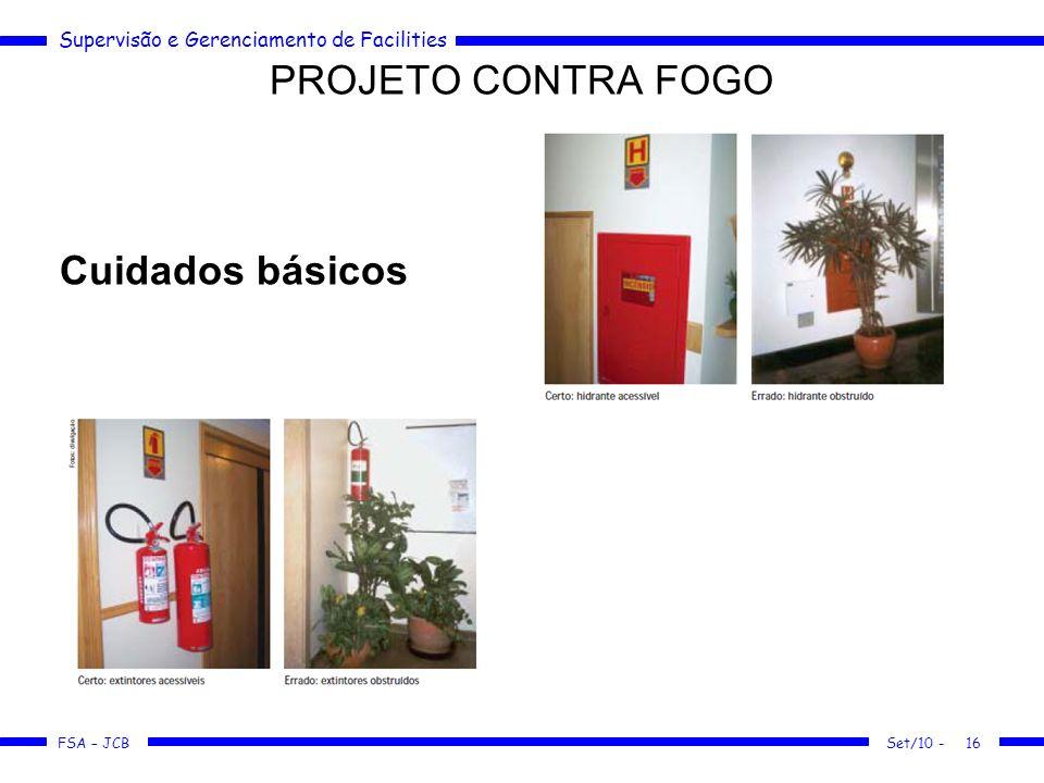 PROJETO CONTRA FOGO Cuidados básicos Manutencao Predial 58-62 Set/10 -