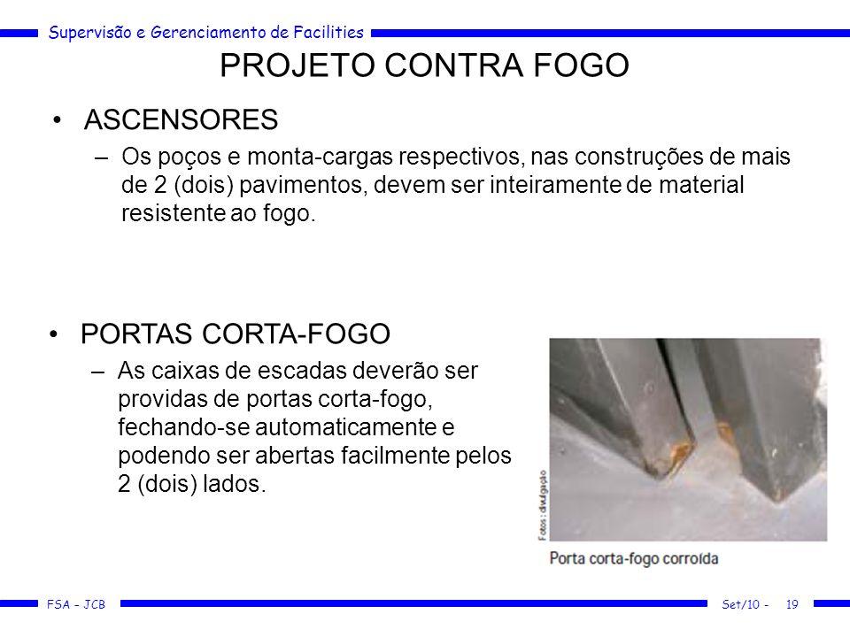 PROJETO CONTRA FOGO ASCENSORES PORTAS CORTA-FOGO
