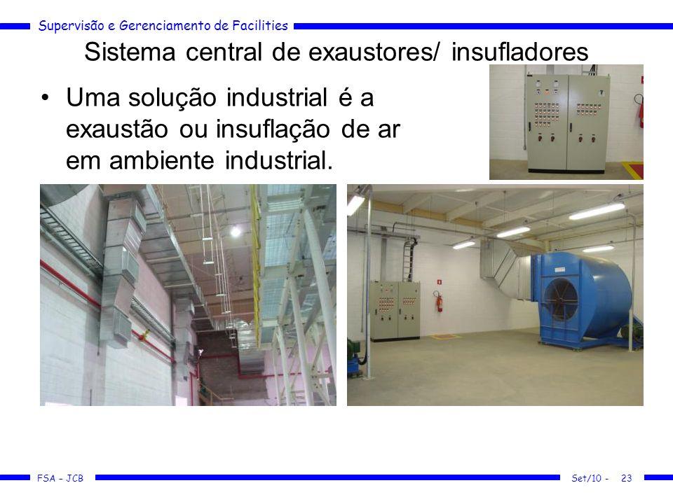 Sistema central de exaustores/ insufladores