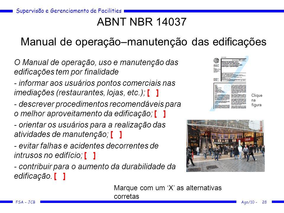 Manual de operação–manutenção das edificações