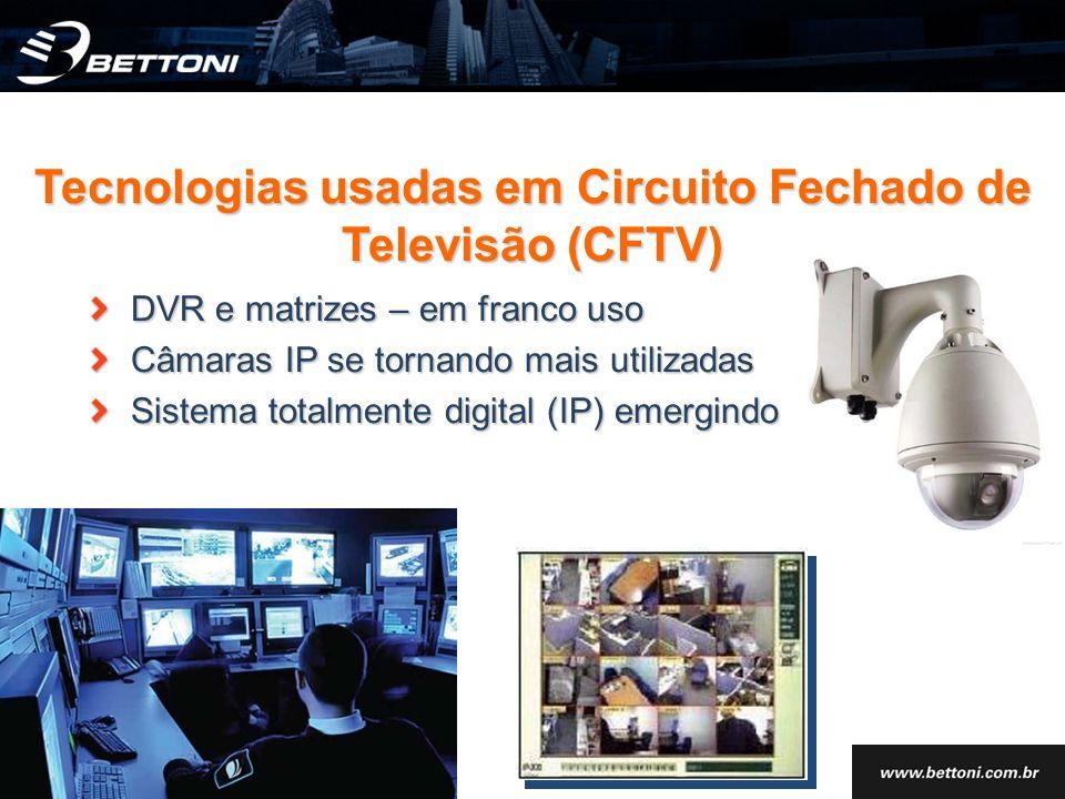 Tecnologias usadas em Circuito Fechado de Televisão (CFTV)