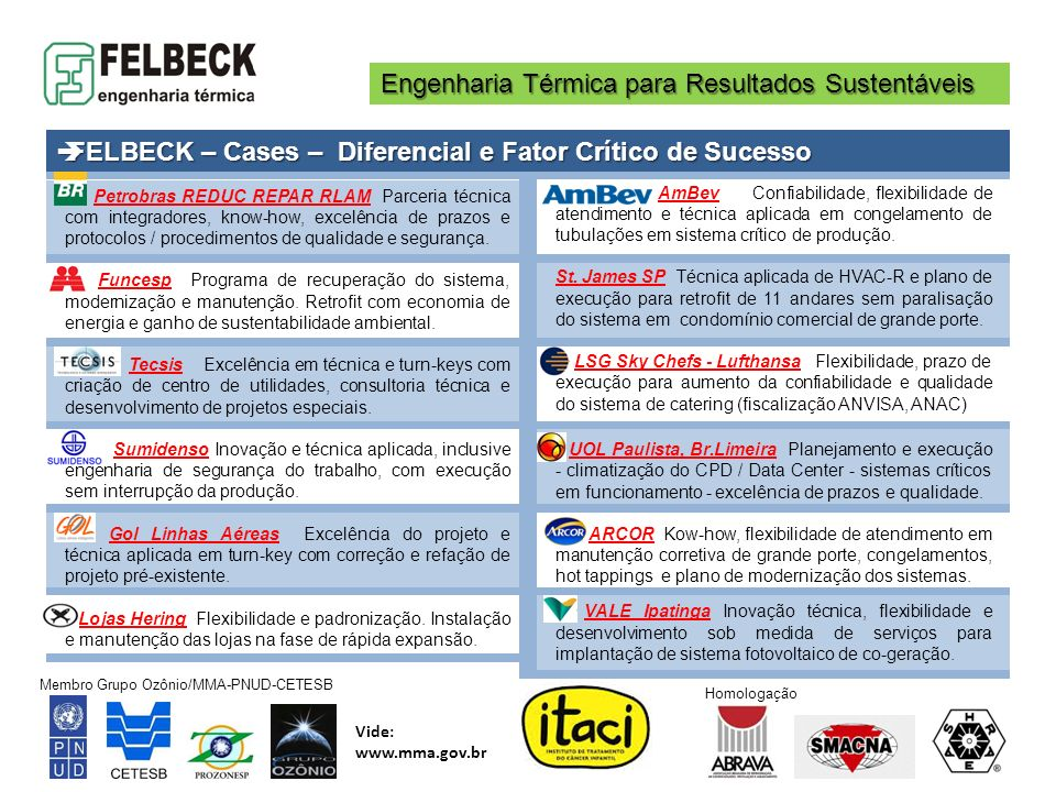 FELBECK – Cases – Diferencial e Fator Crítico de Sucesso