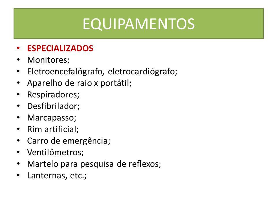 EQUIPAMENTOS ESPECIALIZADOS Monitores;