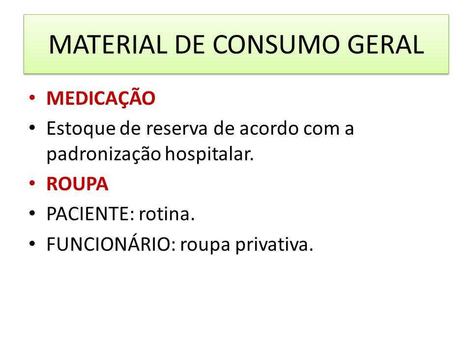 MATERIAL DE CONSUMO GERAL
