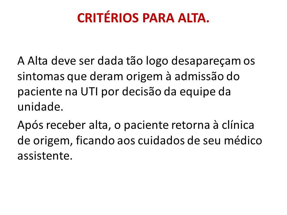 CRITÉRIOS PARA ALTA.