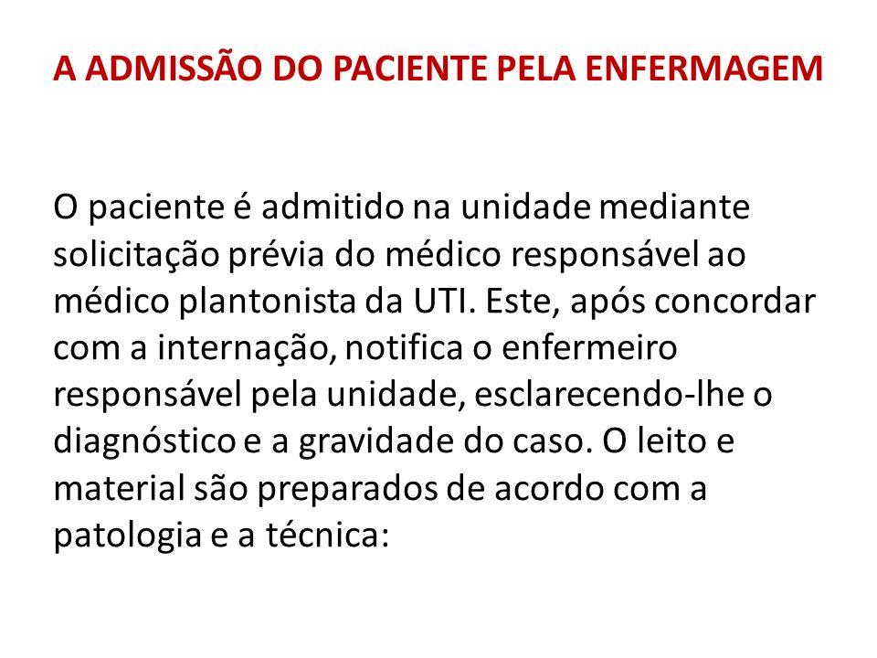 A ADMISSÃO DO PACIENTE PELA ENFERMAGEM