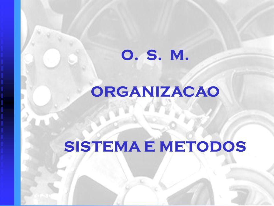O. S. M. ORGANIZACAO SISTEMA E METODOS