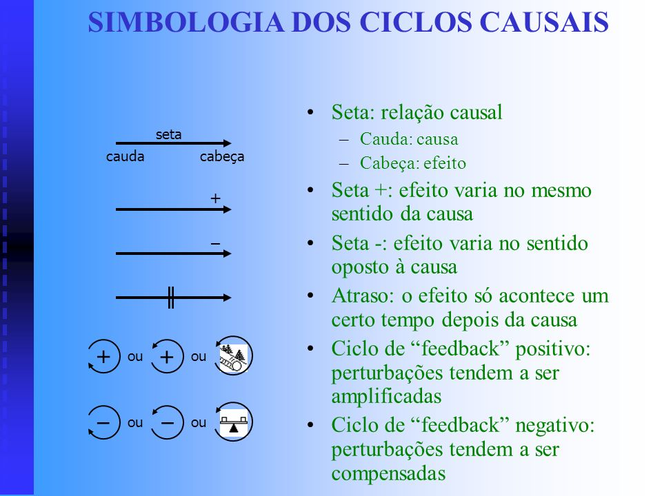 SIMBOLOGIA DOS CICLOS CAUSAIS