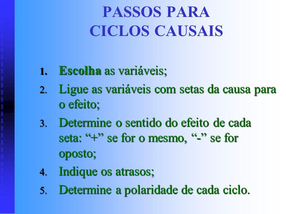 PASSOS PARA CICLOS CAUSAIS