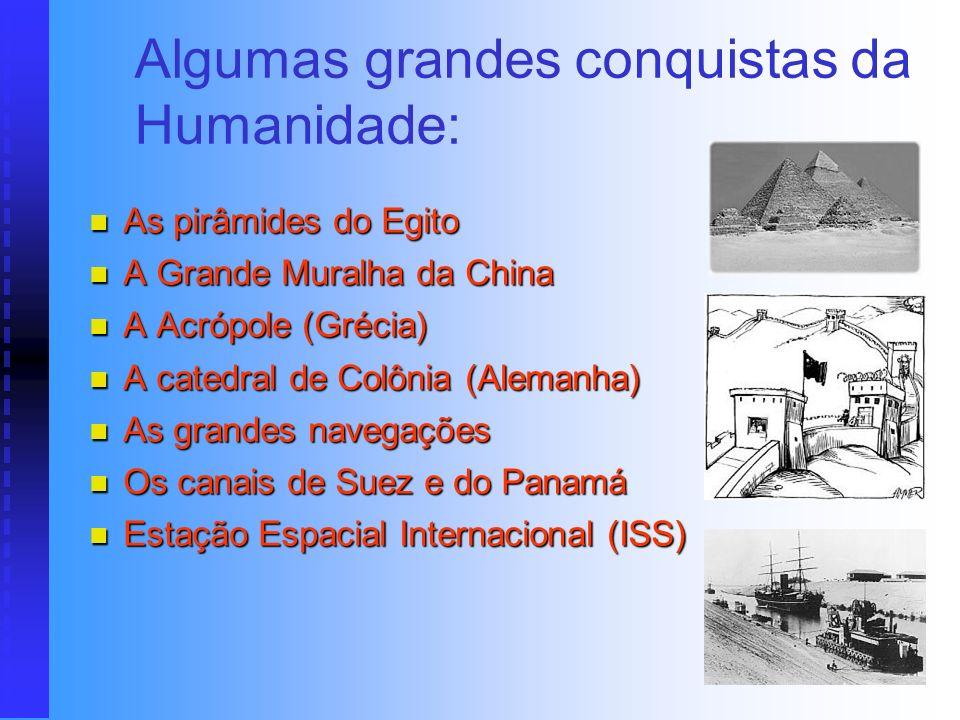 Algumas grandes conquistas da Humanidade: