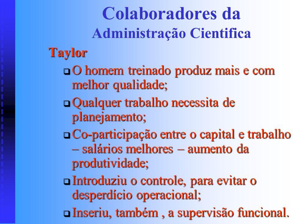 Colaboradores da Administração Cientifica
