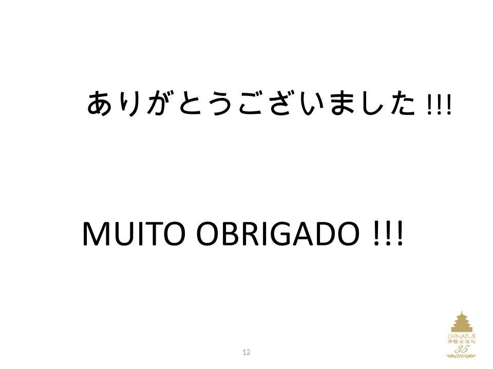 ありがとうございました !!! MUITO OBRIGADO !!! 12