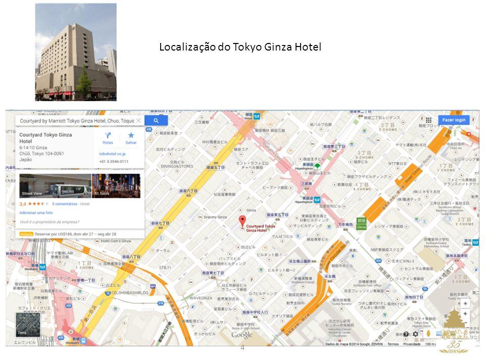 Localização do Tokyo Ginza Hotel