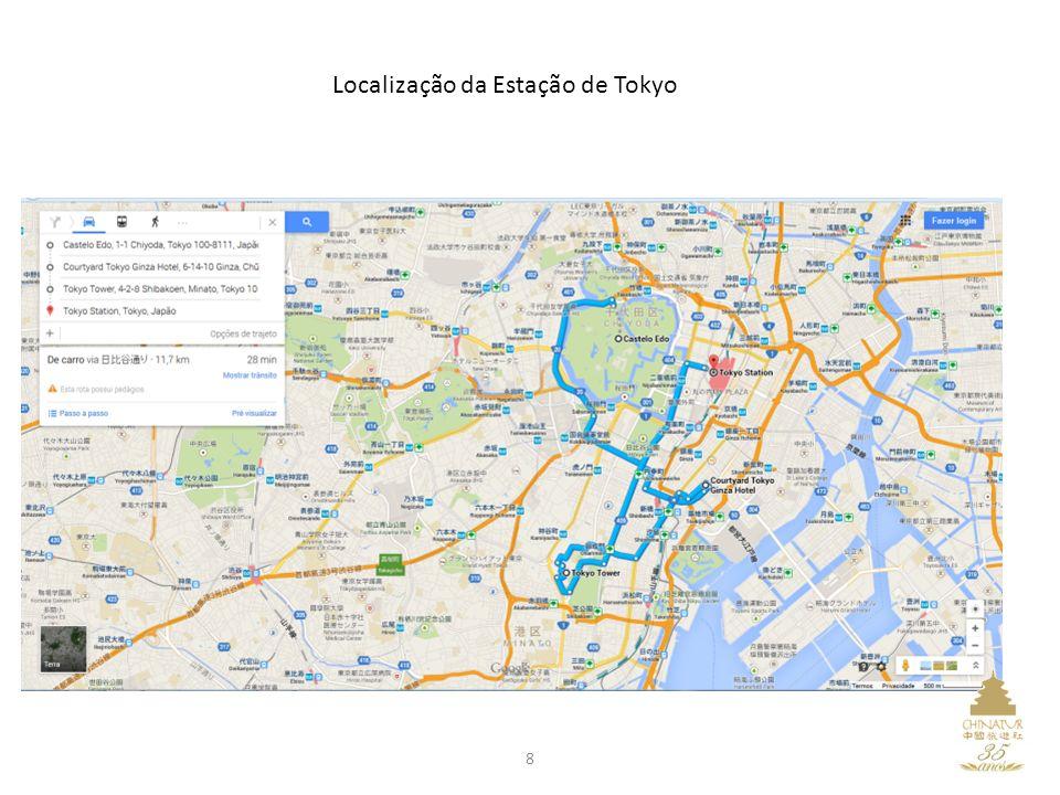 Localização da Estação de Tokyo