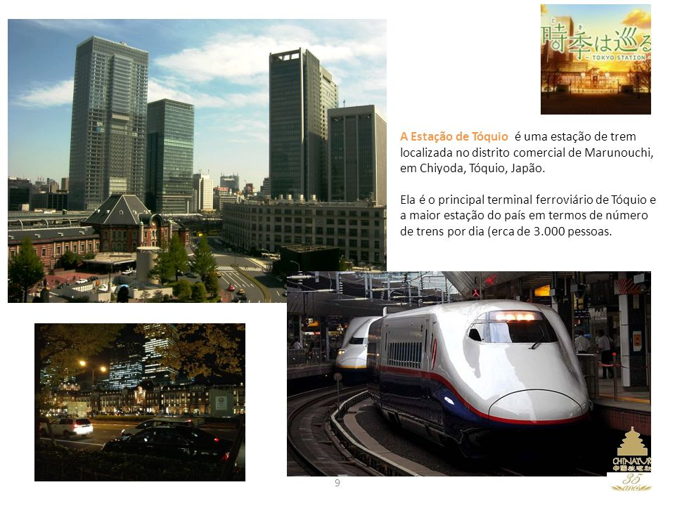 A Estação de Tóquio é uma estação de trem localizada no distrito comercial de Marunouchi, em Chiyoda, Tóquio, Japão.