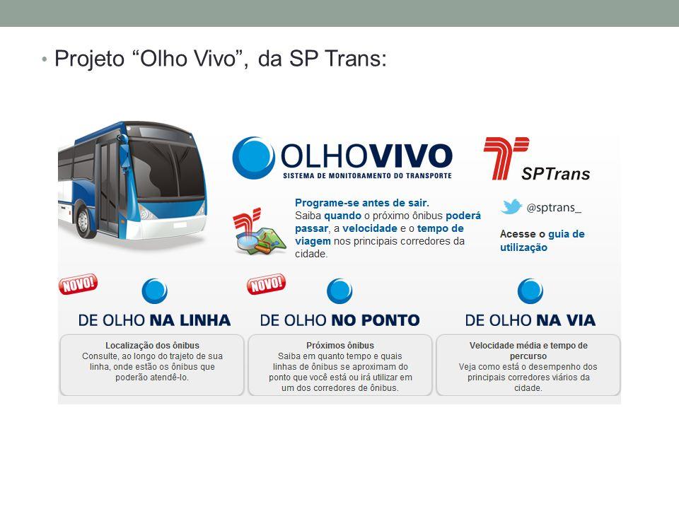 Projeto Olho Vivo , da SP Trans: