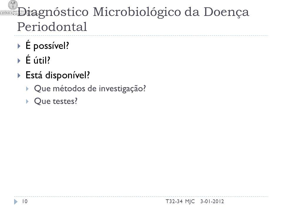 Diagnóstico Microbiológico da Doença Periodontal