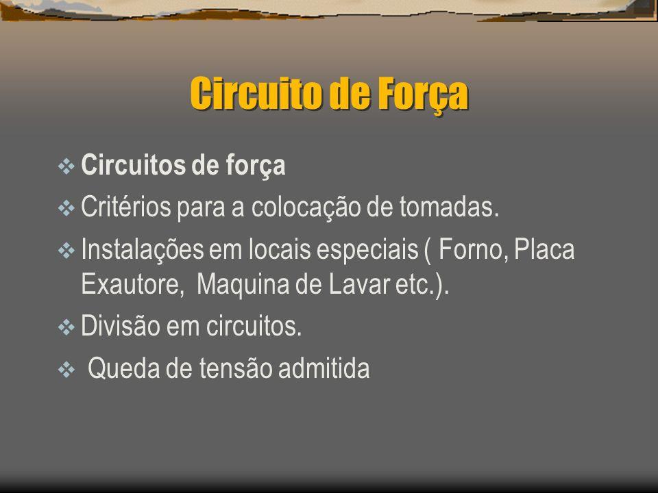 Circuito de Força Circuitos de força