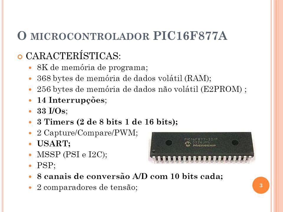 O microcontrolador PIC16F877A