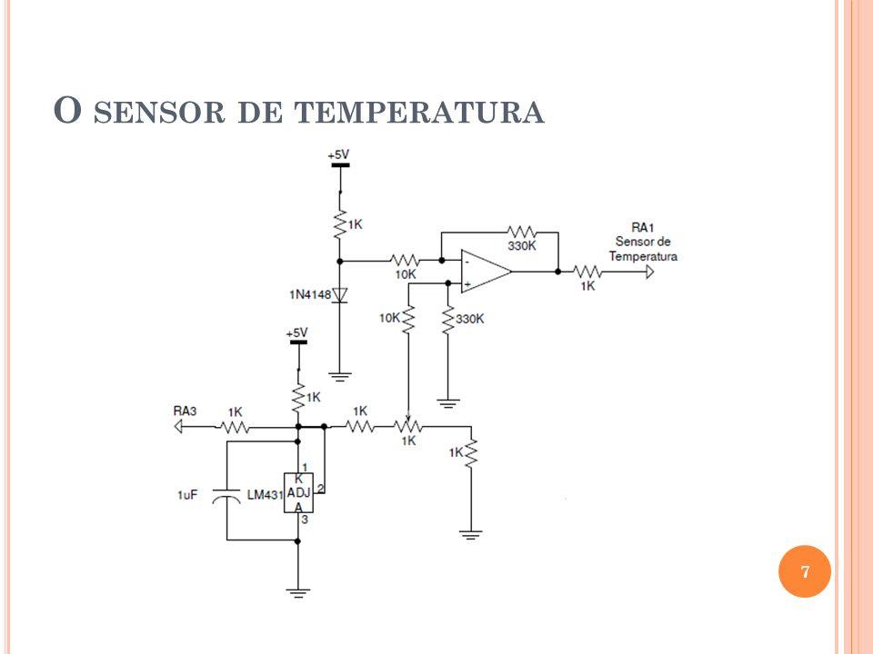 O sensor de temperatura