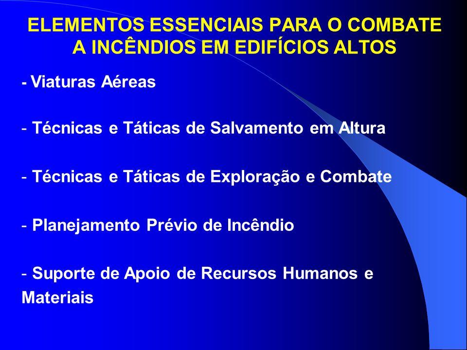 ELEMENTOS ESSENCIAIS PARA O COMBATE A INCÊNDIOS EM EDIFÍCIOS ALTOS