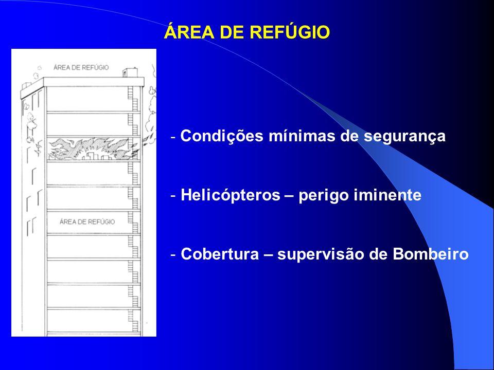 ÁREA DE REFÚGIO Condições mínimas de segurança