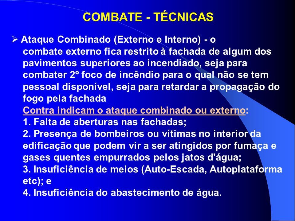 COMBATE - TÉCNICAS Ataque Combinado (Externo e Interno) - o