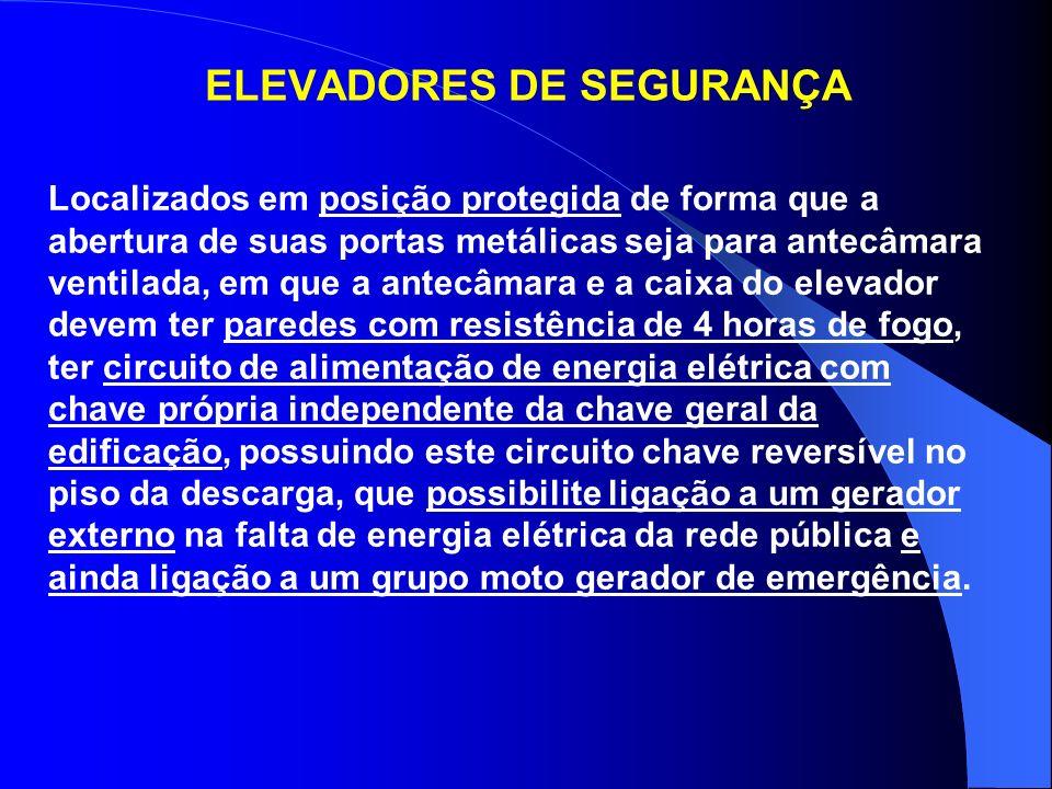 ELEVADORES DE SEGURANÇA