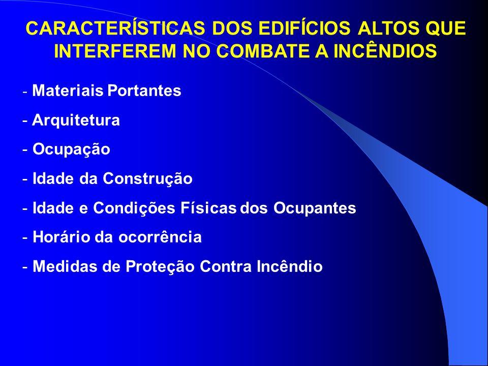 CARACTERÍSTICAS DOS EDIFÍCIOS ALTOS QUE INTERFEREM NO COMBATE A INCÊNDIOS