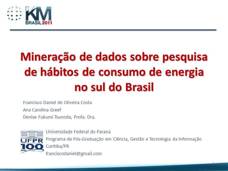 Mineração de dados sobre pesquisa de hábitos de consumo de energia no sul do Brasil