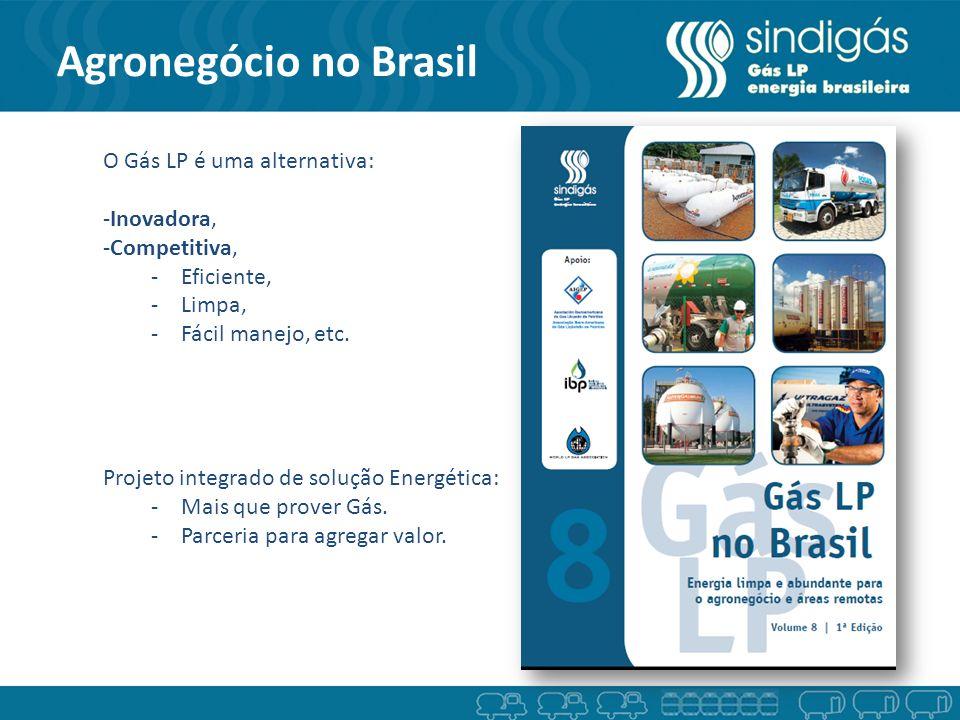 Agronegócio no Brasil O Gás LP é uma alternativa: Inovadora,