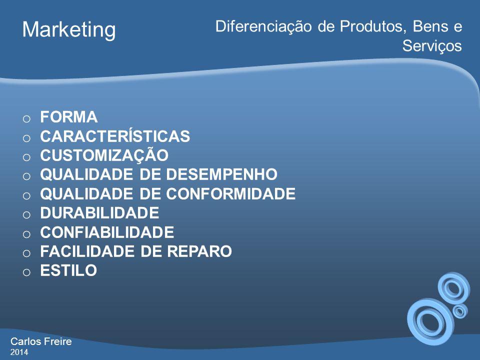 Marketing Diferenciação de Produtos, Bens e Serviços FORMA