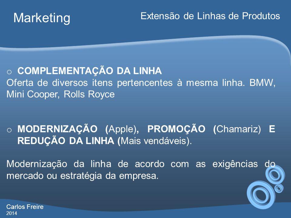 Marketing Extensão de Linhas de Produtos COMPLEMENTAÇÃO DA LINHA