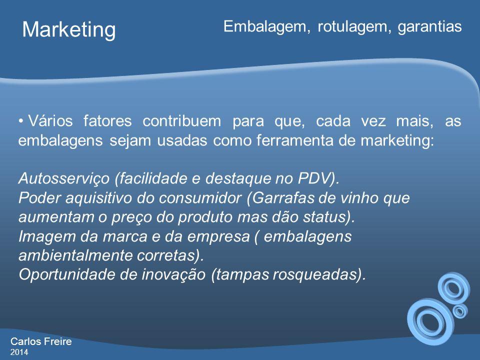 Marketing Embalagem, rotulagem, garantias