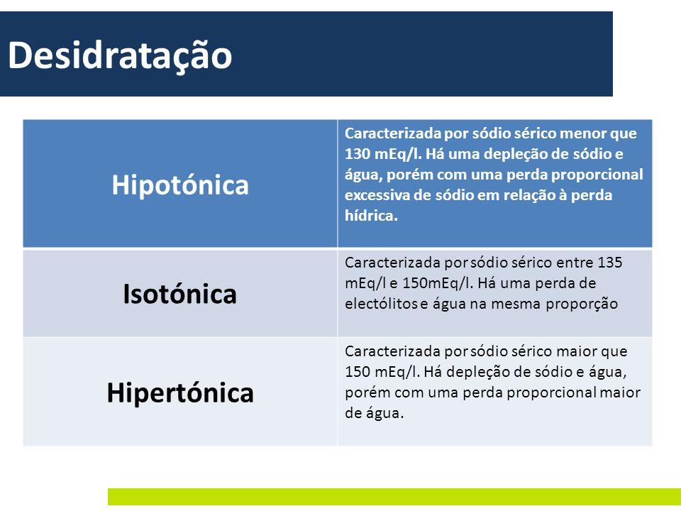 Desidratação Hipotónica Isotónica Hipertónica