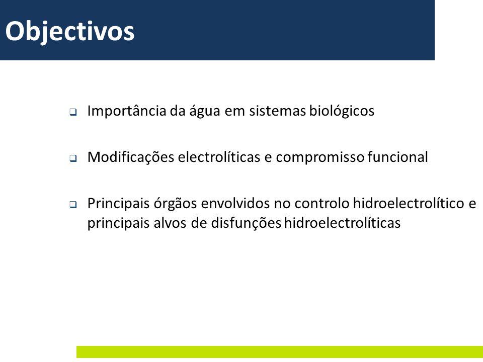 Objectivos Importância da água em sistemas biológicos